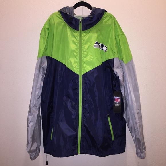 NFL Other - 🆕 NFL Seattle Seahawks Hooded Windbreaker Jacket